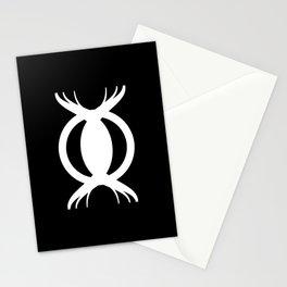 Goetic Symbol on Black Stationery Cards