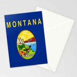 flag of montana,america,usa,big sky,treasure state, montanan,west,Billings,missoula,great falls Stationery Cards