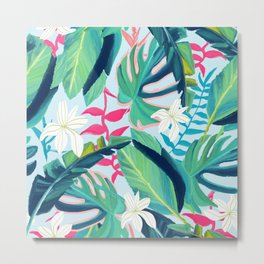 Tropical Eye Candy #painting #illustration #nature Metal Print