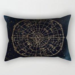 Golden Star Map Rectangular Pillow