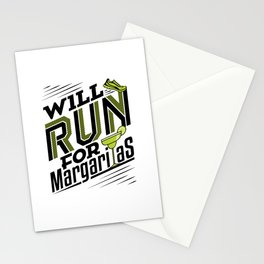 Will Run for Margaritas Stationery Cards