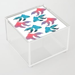 Pattern Oil Painting Abstract Tropical Fish Acrylic Box