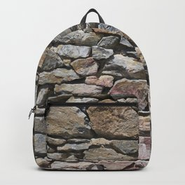 Stone wall of ghost town Backpack