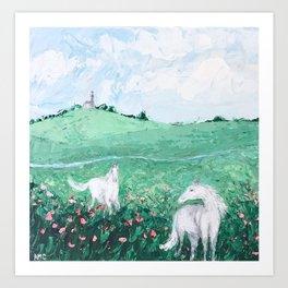 Boulonnais Fields Art Print