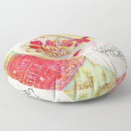 Love IS a Fruit in Season At All Times || Quotes Floor Pillow