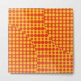 Orange Grunge Background Metal Print