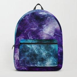 Purple Teal Galaxy Nebula Marble Dream #1 #decor #art #society6 Backpack