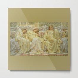 Dreamers 1882 by Albert Joseph Moore - Reproduction from original under CC0 Metal Print