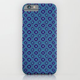 HOMEMADE BLUE PATTERN iPhone Case