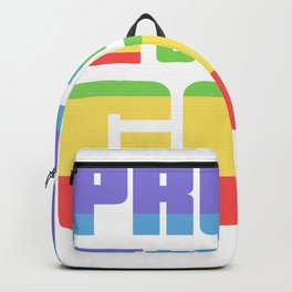 Proud to be gay - rainbow, Gay Pride Backpack