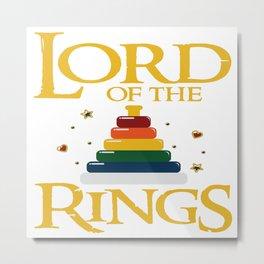 Baby Lord Rings Mum Dad Kids Fantasy Parents Gift Metal Print
