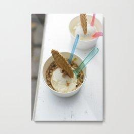 ce cream for dessert Metal Print