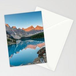 Moraine Lake Sunrise Banff National Park Canadian Rockies Canada Mountains Landscape Stationery Cards