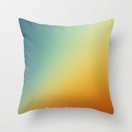 Gradient Colours: Orange Blue Deko-Kissen