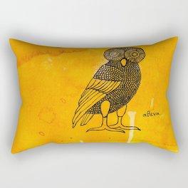 ATHENA'S OWL IN TEA & COFFEE BACKGROUND  Rectangular Pillow