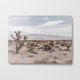 Vintage Desert Hombre // Cactus Cowboy Mojave Landscape Photograph Sunshine Hippie Mountain Decor Metal Print