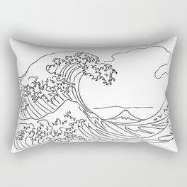 Hokusai waves Rectangular Pillow