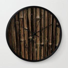Bamboo Blind Wall Clock