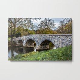 Lower Bridge Burnside's Bridge Antietam National Battlefield Civil War Maryland Metal Print