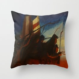 Into the breach Throw Pillow