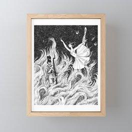 The Tin Soldier & Ballerina Framed Mini Art Print