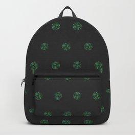 Malachite Polka Dots in Graphite Backpack
