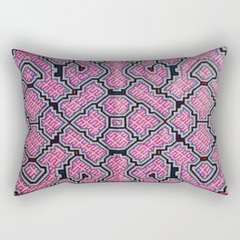Song of Bringing Things Together - Traditional Shipibo Art - Indigenous Ayahuasca Patterns Rectangular Pillow