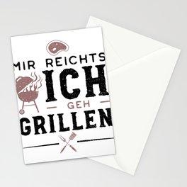 Mir Reichts Ich Geh Grillen Stationery Cards