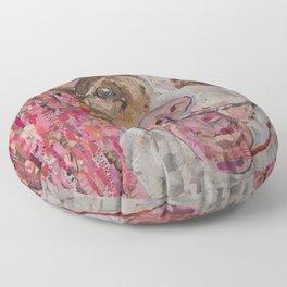 pittie in pink Floor Pillow