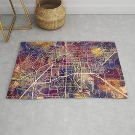 Boulder Colorado City Map Rug