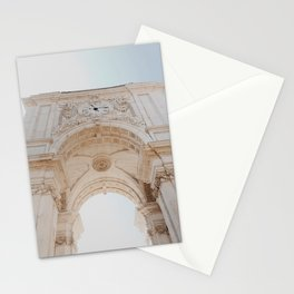 Lisbon beautiful architecture in the square | Summer vibes on vacation, Portugal | Travel photography Stationery Cards