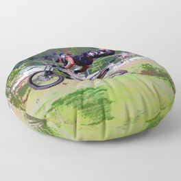 FMX Motocross Freestyle Stunt Rider Floor Pillow