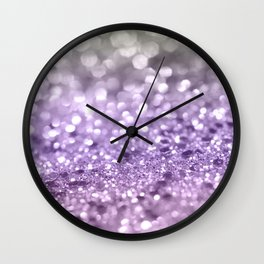Purple Lavender Glitter #1 #shiny #decor #art #society6 Wall Clock