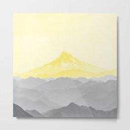 Illuminating Yellow 2021 Color Of The Year Pantone Mountains Adventure II Metal Print
