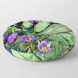 Blissful Water Lilies. Nymphaea Amplia. Common name in Venezuela Lirio de Agua Floor Pillow