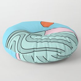 Summer Waves Floor Pillow