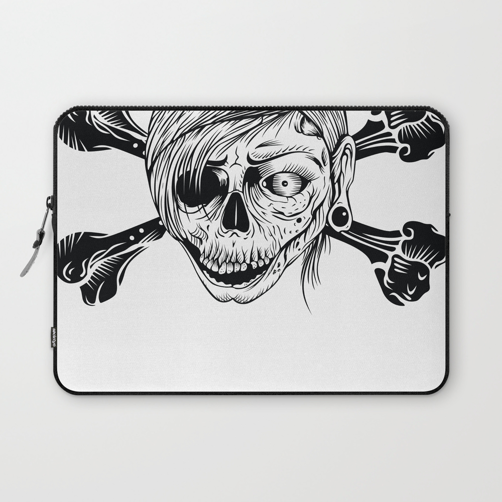 Pirate Zombie Girl - Tattoo, Zombie, Zombies, Apoc… Laptop Sleeve LSV7656706
