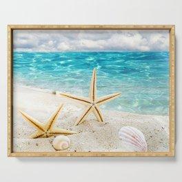 seashell and sea Serving Tray