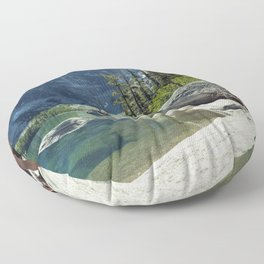 Emerald Green Alpine Lake Floor Pillow