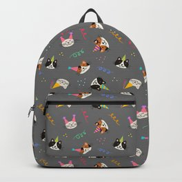 Cat Purr-tay! // Gray Backpack