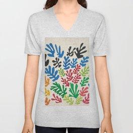 Leaf Cutouts by Henri Matisse (1953) Unisex V-Neck