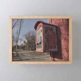 Bronx Police Box - Vintage Framed Mini Art Print