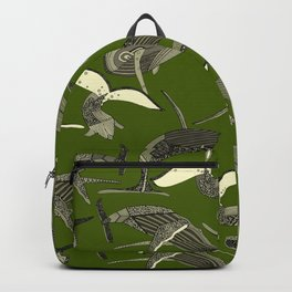 just whales green Backpack