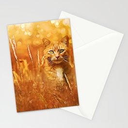 Little Tiger in the Grass Stationery Cards