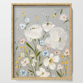spring romance - dainty floral Serving Tray