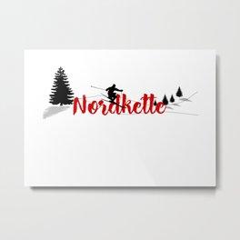 Ski at Nordkette Metal Print