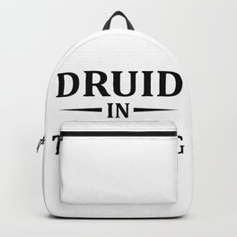 Druid In Training, Gamer Gift, Video Game, Gaming MMORPG Backpack