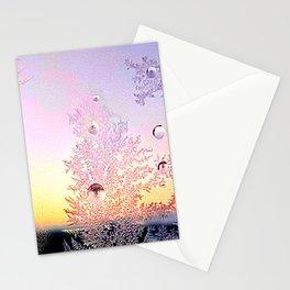 Window Ice Flowers Stationery Cards