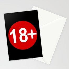 Advisory Warning Label Age Restriction 18 Stationery Cards