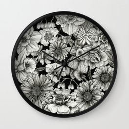 Birth Flower Bundle Wall Clock